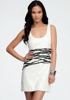 Zigzag Contrast Sequin Dress