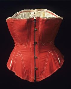 Corset, ca. 1860s.    From Kulturen (Database for Museum Collections).
