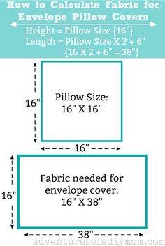 How to Make an EASY Envelope Pillow Cover covers decorative How to Make . : How to Make an EASY Envelope Pillow Cover covers decorative How to Make an EASY Envelope Pillow Cover Sewing Throw Pillows, Diy Pillows, Sewing Pillow Cases, Wash Pillows, Decorative Pillow Cases, Sewing Hacks, Sewing Tutorials, Sewing Crafts, Sewing Tips