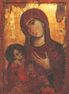 Theotokos Hodegetria Pyrphoros Sinai 13C Religious Paintings, Religious Art, Mother Mary, Mother And Child, Medieval Paintings, Byzantine Icons, Madonna And Child, Orthodox Icons, Christian Art