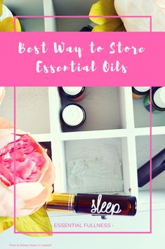 Best Way to Store essential Oils: To store your essential oils properly, you have to avoid three main villains: oxygen, heat and light. To reduce contact with oxygen, keep your oils capped tightly when you are not using them. Don't remove the reducer from the bottle, this is important to an adequate seal, and if you have a small amount of essential oil...