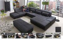 Lomo von Megapol Wohnlandschaft granite schwarz Living Room Sofa, Living Area, Living Room Furniture, Living Room Decor, Small Living, Sofa Furniture, Furniture Design, Sofa U Form, Couch Design