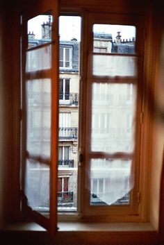 the view out this window is of the hotel where I stayed in Paris! Ahh, how beautiful it was that spring!