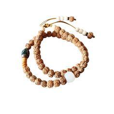 Agate Rudraksha Bracelet Wrap