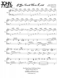 """Check out """"If You Could Hie to Kolob"""" - new LDS Piano Solo from John Tyler's debut album, """"Infinite Shades of Light."""" You can hear the song and get sheet music at http://ldspianohymns.com/shop/if-you-could-hie-to-kolob-piano-solo/"""