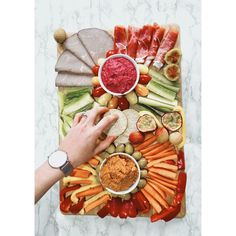 This platter is a great piece to take to parties over the holiday season or even as a healthy interactive family lunch. Dips and veggies can be swapped for whats in season or for your favourites. Whats In Season, Recipe Today, Cherry Tomatoes, Food Pictures, Platter, Amazing Photography, Dips, Healthy Lifestyle, Good Food