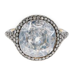 Magnificent Cushion Cut 5.53 carat Extraordinary Diamond Ring