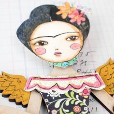 Winged Frida Project by @danitaart
