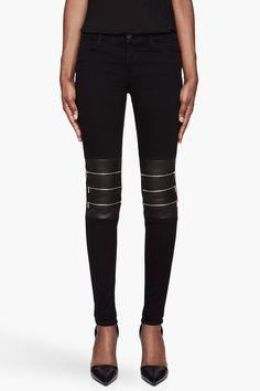 J BRAND Black Knee Zipper hewson Jeans