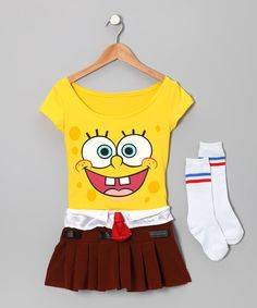 Cute little girls. Spongebob outfit so cute
