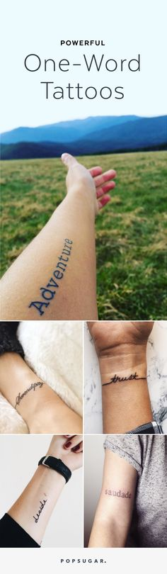 One Word Tattoo Inspiration