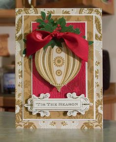 Ornament Christmas Card using Anna Griffin by WhimsyArtCards, $5.00