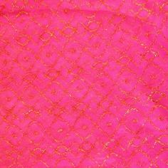 We3 Belly Dance Princess Pink/Gold Persian Lace Vintage Rare Fabric 2.5Yds.  #6