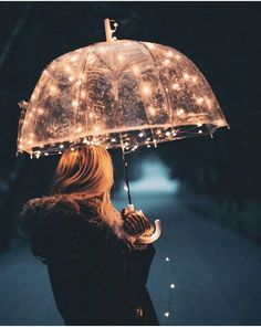 Fairy lights can make anything beautiful Jolie Photo, Pretty Pictures, Love Pics, Portrait Photography, Umbrella Photography, Rainy Day Photography, Photography Ideas, Photography Lighting, Fairy Light Photography