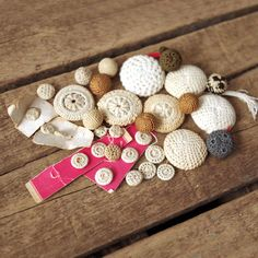 Antique Crochet Buttons Creamy / Ecru Sewing by thelostrooms