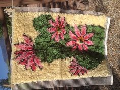 Cactus desert latch hook rug wall by AdelewayahCreations on Etsy, $90.00