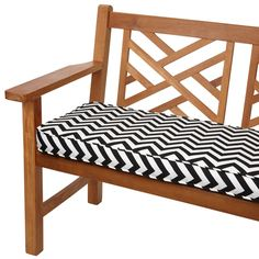 Black Chevron 60-inch Indoor/ Outdoor Corded Bench Cushion - Overstock™ Shopping - Big Discounts on Outdoor Cushions & Pillows