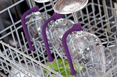 No more worrying that I'd find my wine glasses broke IF I were to put them in the dishwasher.