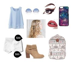 """""""My First Polyvore Outfit"""" by gabiimello ❤ liked on Polyvore featuring Uniqlo, Abercrombie & Fitch, Billabong, Sole Society and Linda Farrow"""