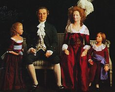 Wax figures of Louis XVI, Marie Antoinette and their children at Madame Tussaud's.