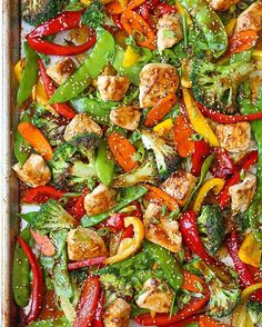 NEW RECIPE! Sheet pan Asian stir fry. One pan ONLY. That's it you guys. And completely customizable to your veggie preference. http://damndelicious.net/2016/09/30/sheet-pan-asian-stir-fry/