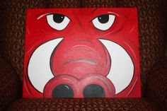Make art that sells...check!!  Donated a few of these Razorback paintings to an auction and they SOLD!  Woohoo!  Making more now - profits will go toward my 2012 Komen 3 Day registration.