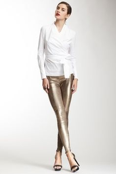 High Waisted Leather Legging