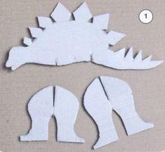 Динозавр из картона