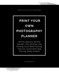 Photographers Planner - When a regular planner or post-it notes don't cut it anymore, you need something that was designed specifically for photographers & busy life!