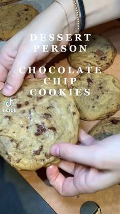 Easy Baking Recipes, Cookie Recipes, Dessert Recipes, Food Cravings, Chocolate Chip Cookies, Food Dishes, Sweet Recipes, Yummy Food, Snacks
