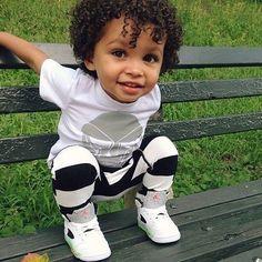 Little boy fashion☻ - Baby Wear Mixed Baby Boy, Cute Mixed Babies, Cute Black Babies, Beautiful Black Babies, Cute Babies, Baby Kids, Black Mexican Babies, Little Black Boys, Lil Boy