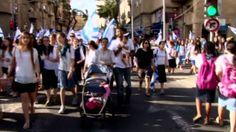 Thousands Wave Flags at Jerusalem Day Parade OK to all Hebrews Israel for Jerusalem day that's 47 years celebration in Jerusalem Israel...