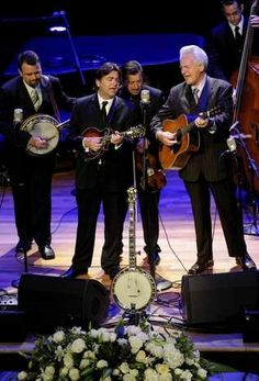 The Del McCoury Band performs during the Earl Scruggs, A Celebration of Life service at Nashville's Ryman Auditorium on April 1, 2012