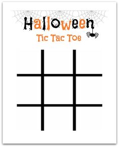 Use two varieties of candy corn and have fun playing on this Halloween Tic Tac Toe board!  The perfect activity for after school or at a Halloween party and free to print!