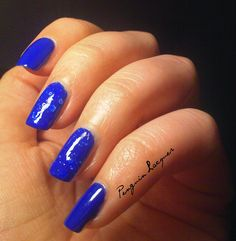 Maybelline Bleached Blue & essence electric blue: http://penguinlacquer.blogspot.de/2014/07/bleached-blue-friday.html #nails #maybelline #essence