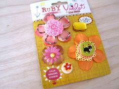I love Ruby Violet Embellishments - 5 pc set. $6.90, via Etsy.