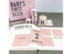 Little Moustache - Baby's First Book Pink