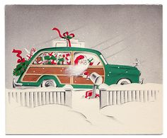 Santa drives a woodie!