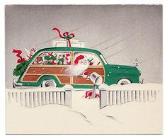 Santa drives a woodie!