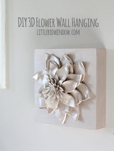 Make a gorgeous 3D Flower Wall Hanging with simple materials! | littleredwindow.com
