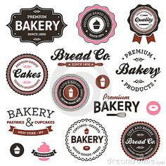 Vector Illustration: Vintage bakery labels. Image: 23247812