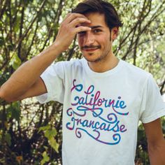 90' White Tee - Men via Californie Française. Click on the image to see more!