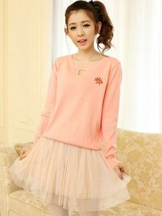 Embroidery hollow-out pullover sweater , flower embroidered pink pullover, fashion round neck hollow-out sweater #embroidery #hollow-out #pullover #sweater www.loveitsomuch.com