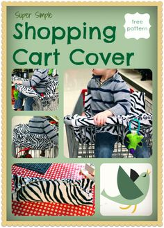 This Super Simple Shopping Cart Cover is soft and sanitary for your little one. You can even attach toys to keep baby entertained, and he won't be able to toss them on the floor!