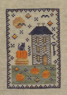 prim Halloween cross stitch