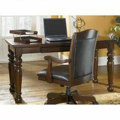 Ashley home office large leg desk