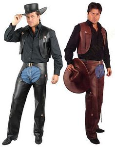 Adult Mens Cowboy Western Costume Wild West Faux Leather Chaps & Vest And Plus Western Costumes, Saloon Girls, Cowboy Christmas, Gone With The Wind, Southern Belle, Western Cowboy, Wild West, Halloween Costumes, Halloween 2019