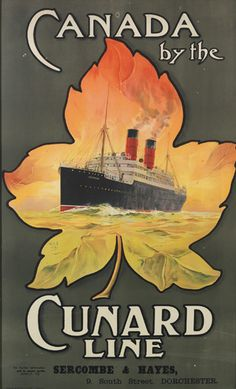 Canada by the Cunard Line - illustration : Odin Rosenvinge -