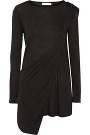 Donna KaranCasual Luxe asymmetric jersey top