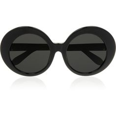 Linda Farrow Round-frame acetate sunglasses ($525) ❤ liked on Polyvore featuring accessories, eyewear, sunglasses, glasses, black, round frame glasses, oversized round sunglasses, round sunglasses, uv protection glasses and linda farrow eyewear